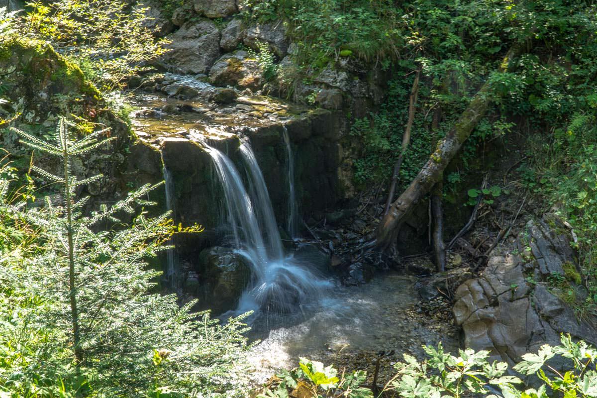 Wasserfall im Gaisalptobel im Allgäu