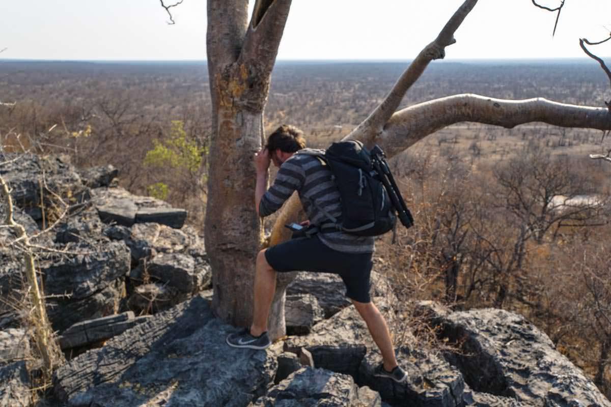 Geocaching im Halali Resort (Etosha NP, Namibia)