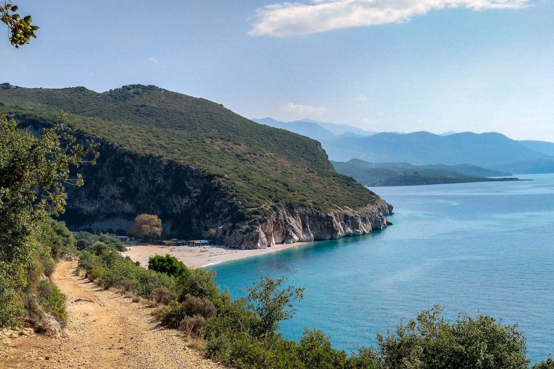 Unsere schönsten Fotos aus dem Albanien Urlaub: Bucht am Gjipe Beach