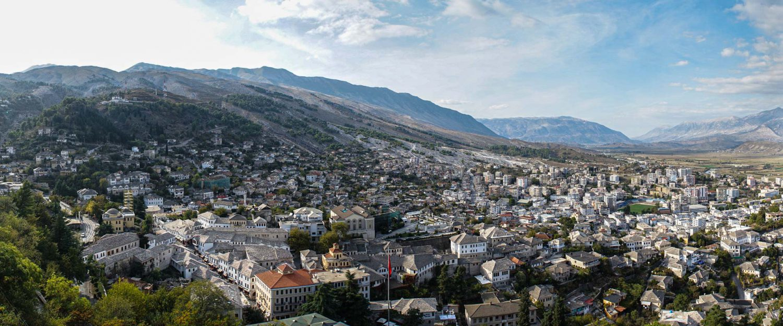 Panorama von Gjirokaster in Albanien