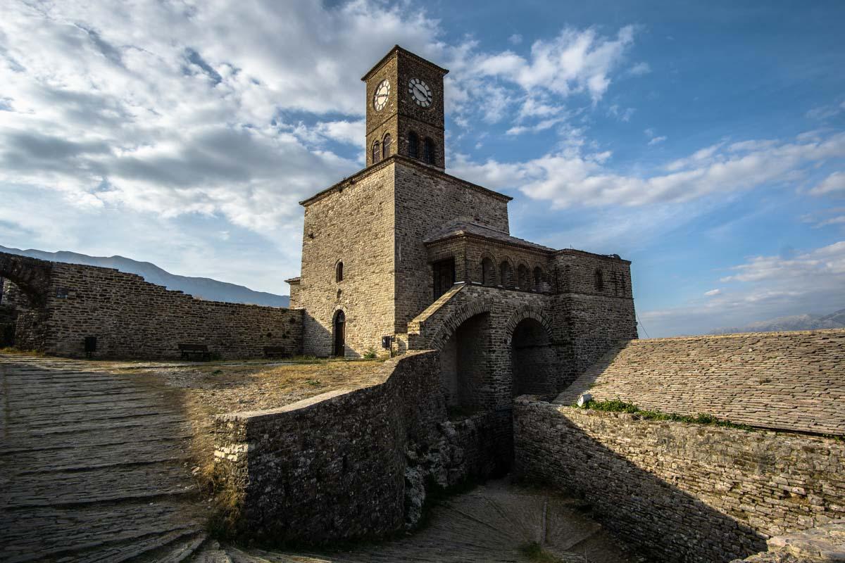 Burg von Gjirokastra in Albanien