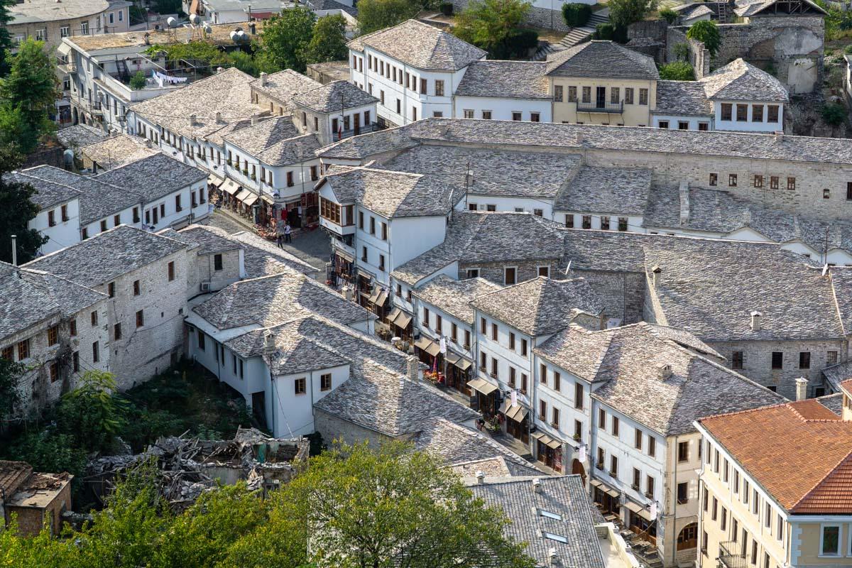 Die Steindächer von Gjirokaster