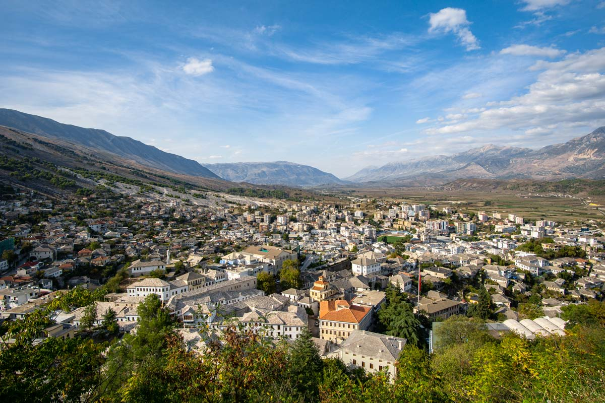 Gjirokastra von Oben (Albanien)