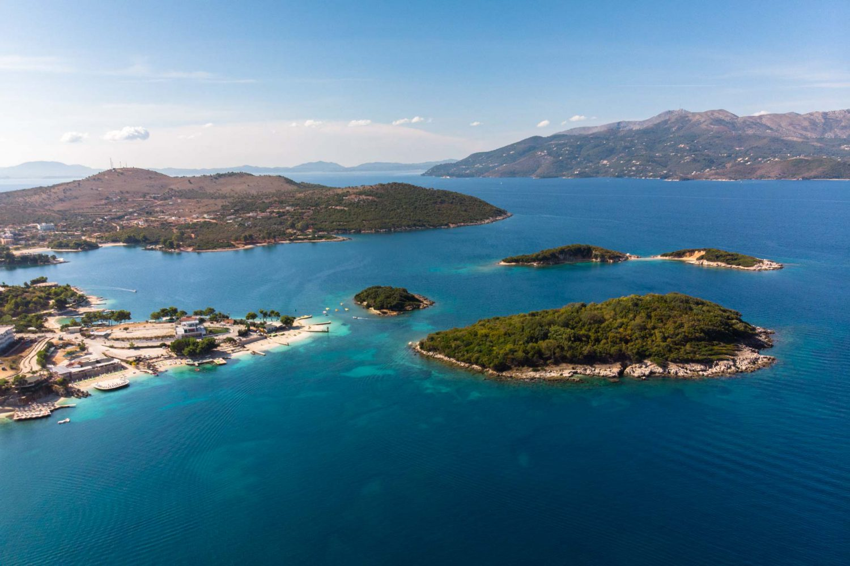 Ksamil Inseln von Oben