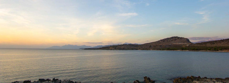 Sonnenuntergang bei Ksamil in Albanien