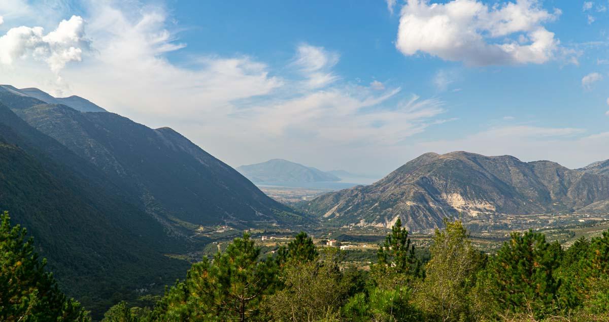 Blick vom Llogara Pass auf die Adria