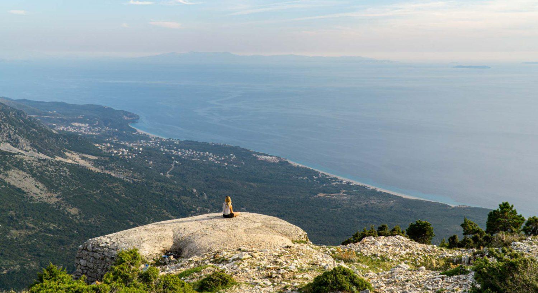 Ausblick vom Llogara Pass auf das Ionische Meer (Albanien)