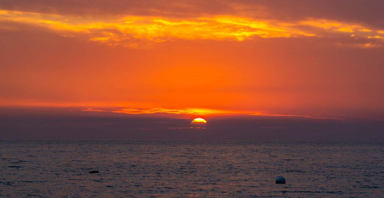 Sonnenuntergang an der Albanischen Riviera