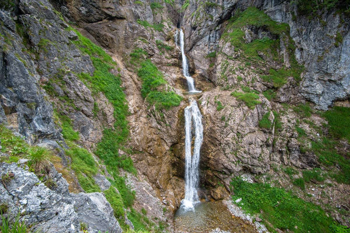 Die Wanderung zum Prinz-Luitpold-Haus ist geprägt von Wasserfällen