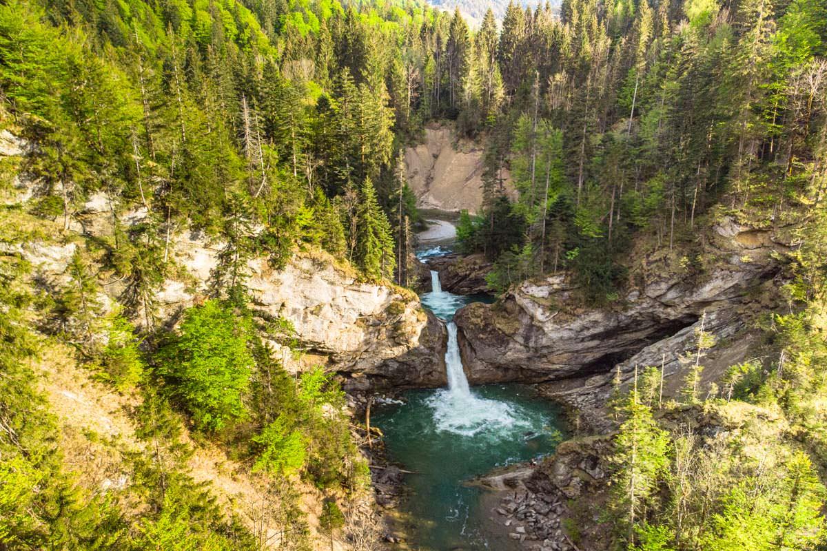 Die Buchenegger Wasserfälle sind besonders von Oben ein Traum