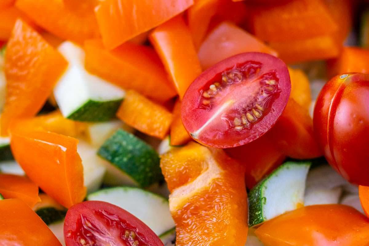 Gemüse in Nahaufnahme