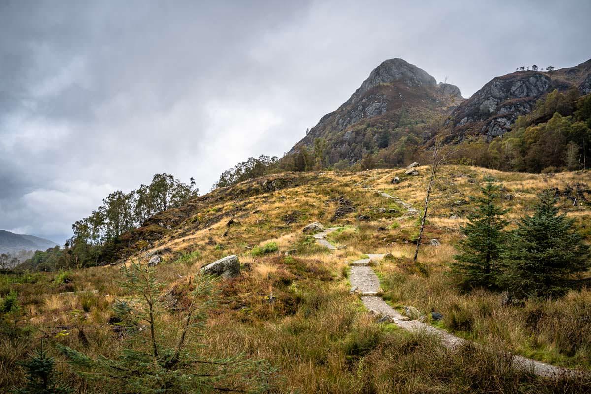 Der Wanderweg auf den Ben Aan in Schottland wurde erst vor Kurzem neu ausgebaut