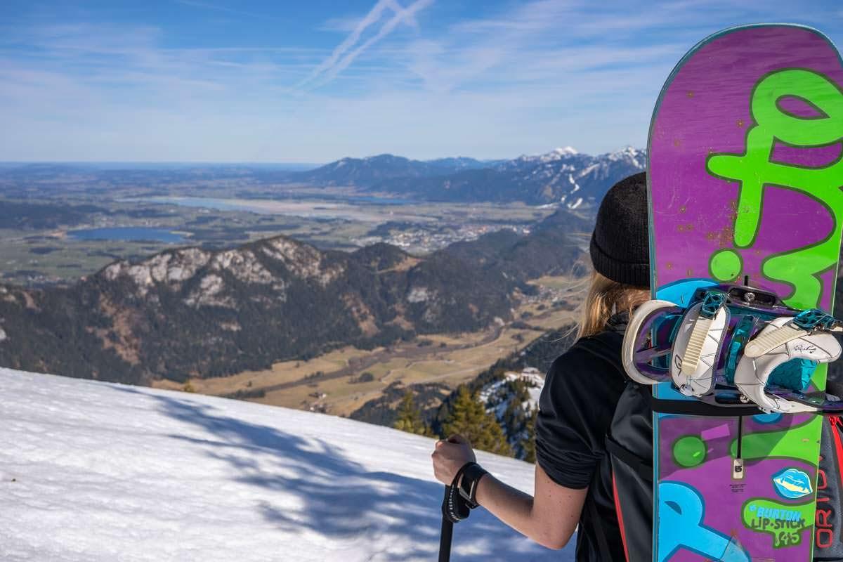 Schneeschuhwanderungen und Snowboardtouren für Anfänger im Allgäu