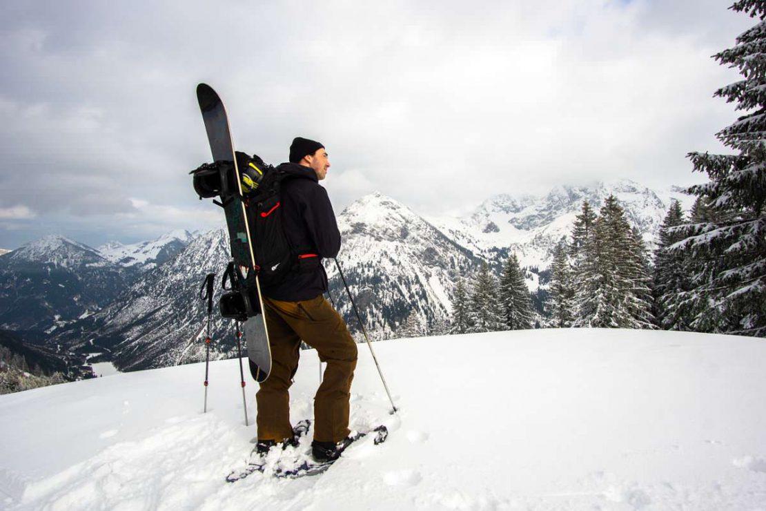 Schneeschuhwanderungen am Sonnenkopf im Allgäu