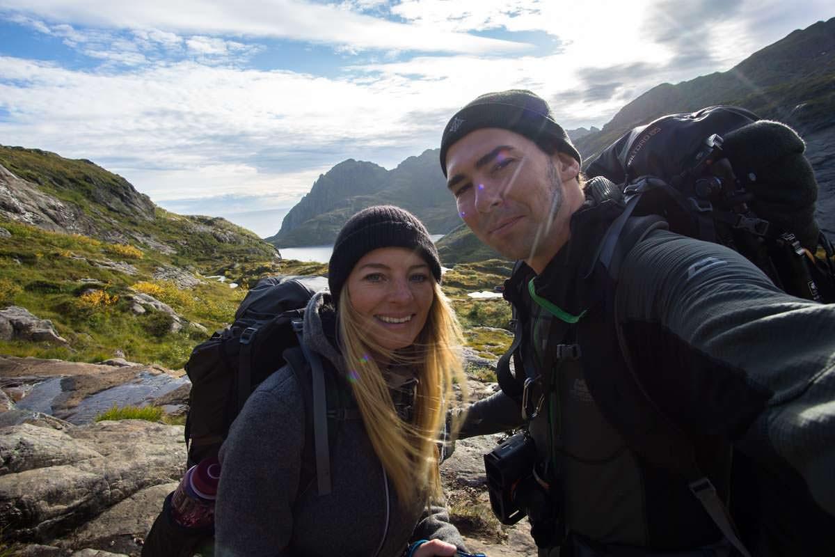Wanderung mit Zelt zur Munkebu Hut (Lofoten)