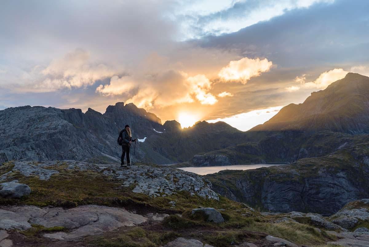 Wandern und Zelten auf den Lofoten