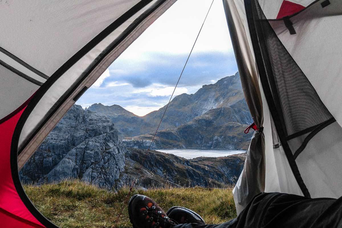 Zelten an der Munkebu Hut