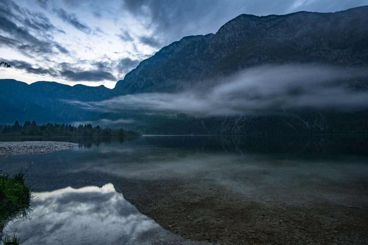 Camping Zlatorog Bohinj direkt am Ufer des Bohinjsko jezero (Wocheiner See)