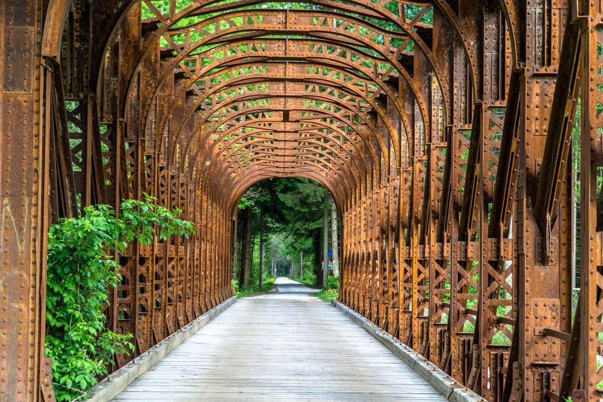 Fahrradbrücke in Gozd Martuljek