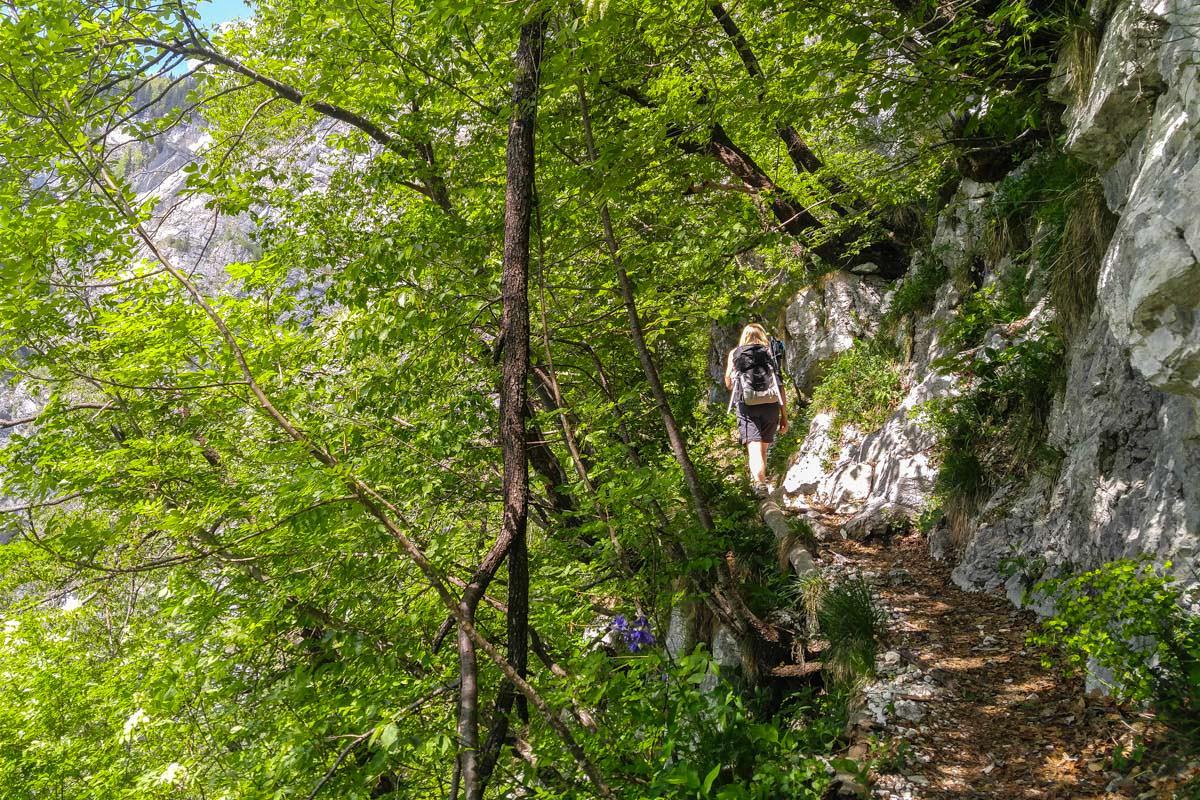 Wanderungen zum Crno jezero im Nationalpark Triglav