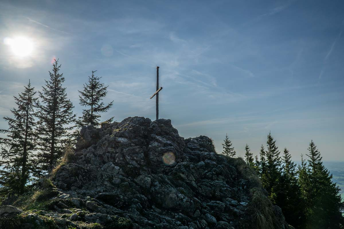 Das Gipfelkreuz auf dem Alpspitz