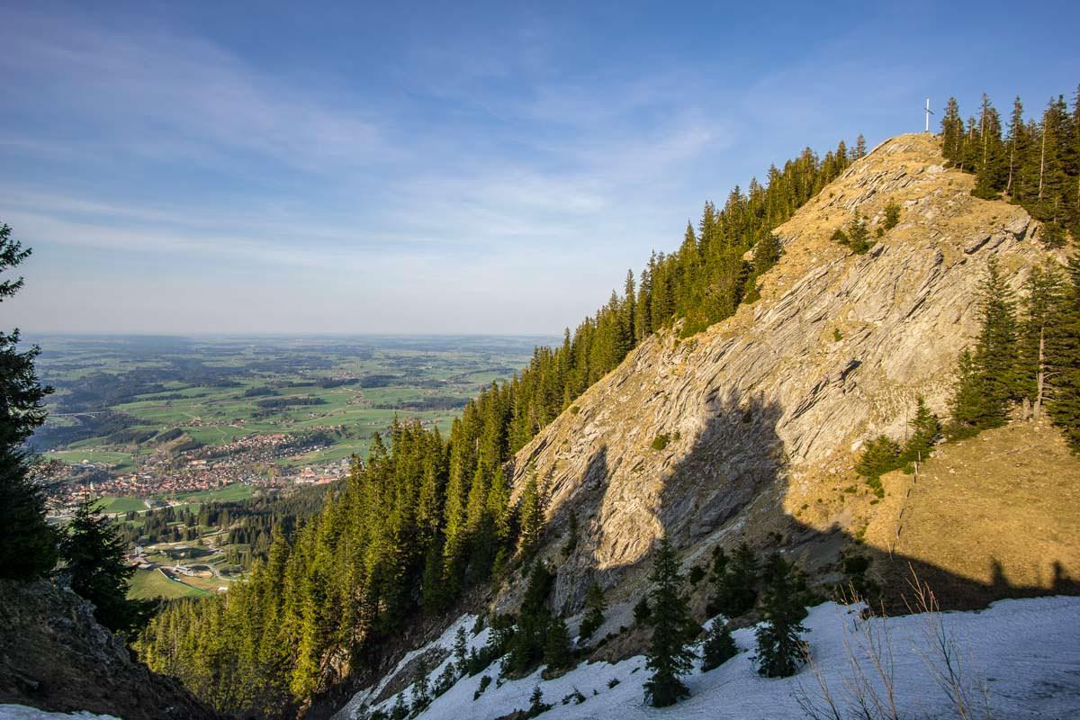 Felsiger Gipfel vom Alpspitz