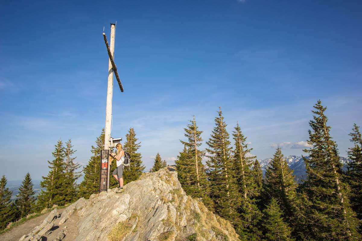Gipfelbuch am Alpspitz