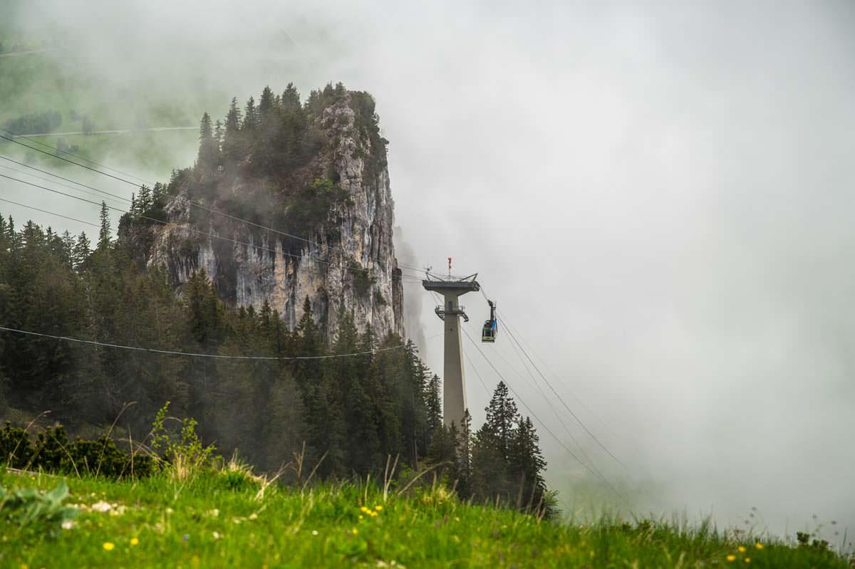 Die Kabinenbahn der Tegelbergbahn ist ein beliebtes Ausflugsziel im Allgäu