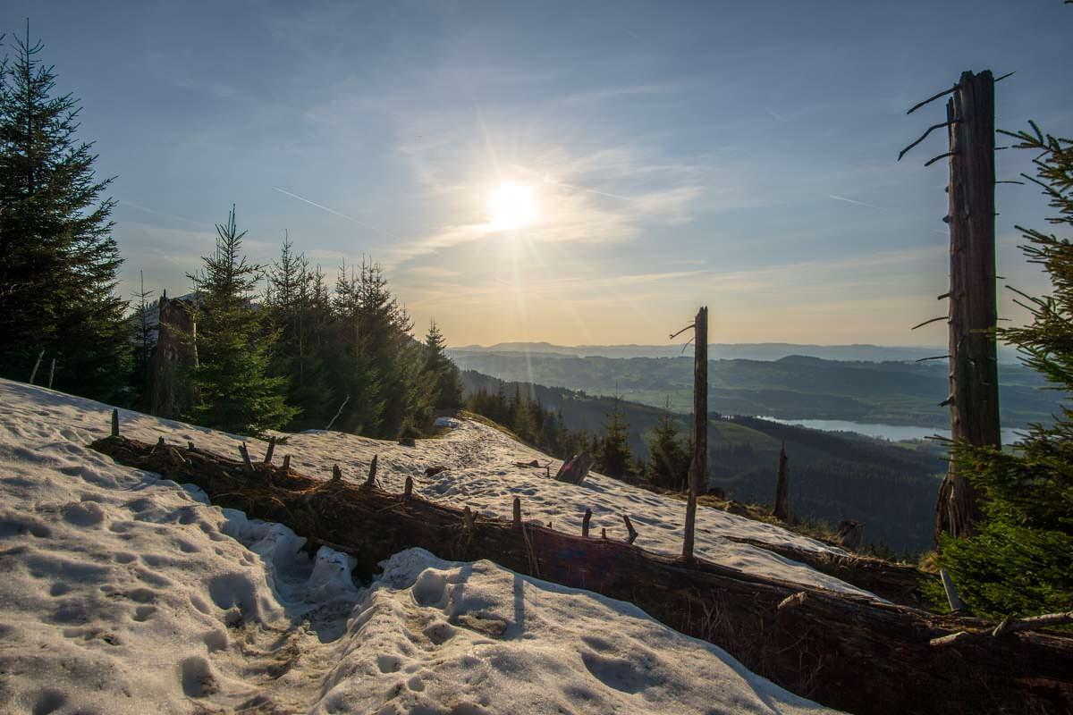 Wanderung zum Alpspitz im Schnee