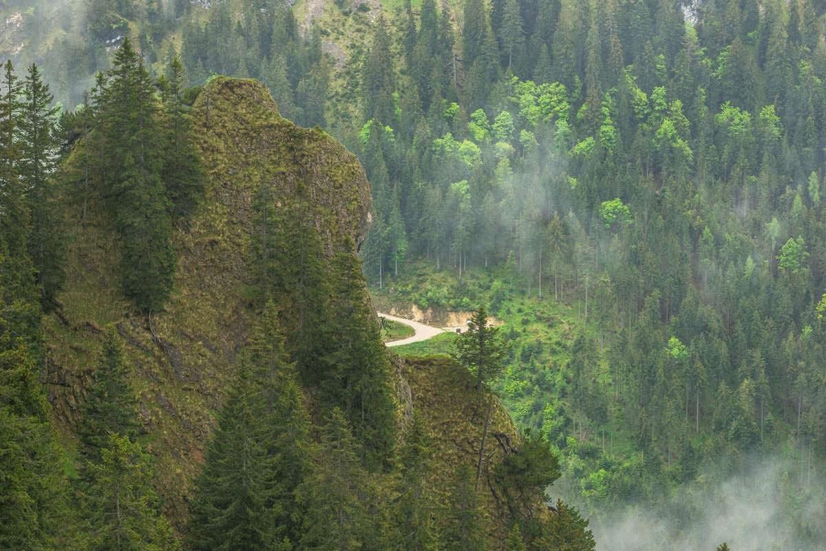Der Wanderweg zur Bleckenau führt direkt zum Schloss Neuschwanstein