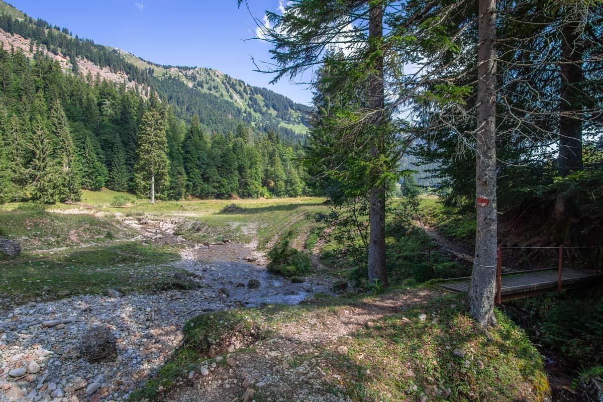 Der Aubach im Gunzesrieder Tal