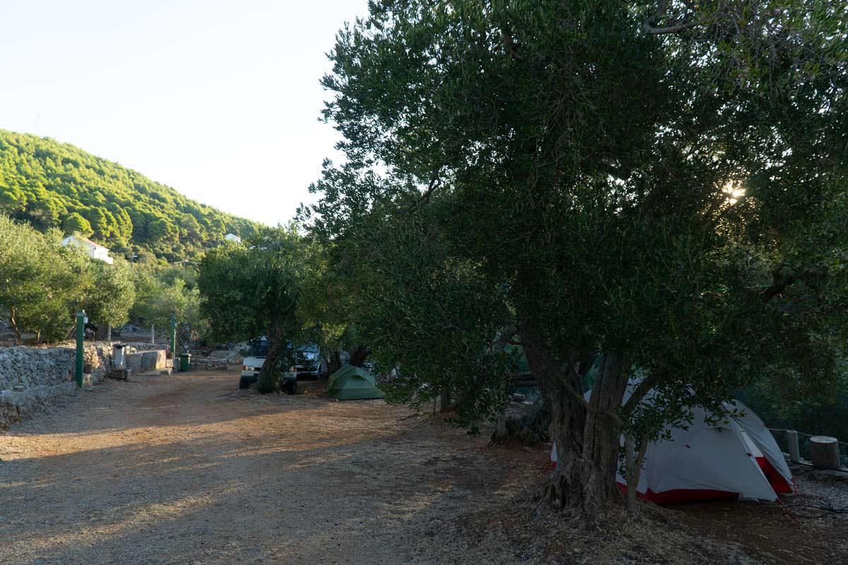 Campingplatz in auf der Insel Mljet in Kroatien