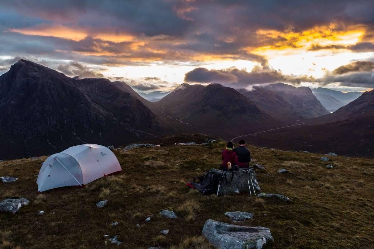 Wildcamping am Beinn a 'Chrùlaiste in Schottland