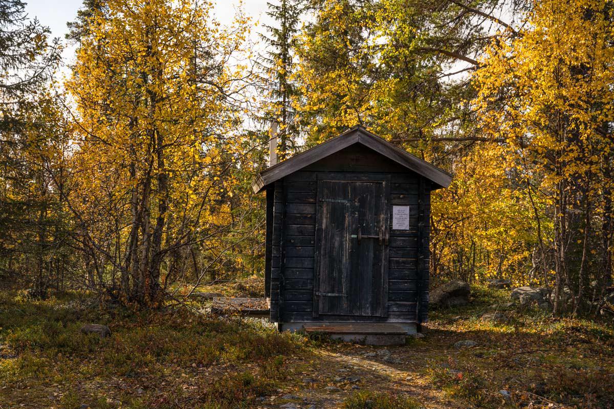 Toilette am Parkplatz an der Sitoälvsbron