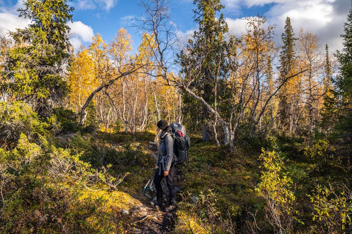 Wanderung nach Aktse und auf den Skierffe mit Zelt