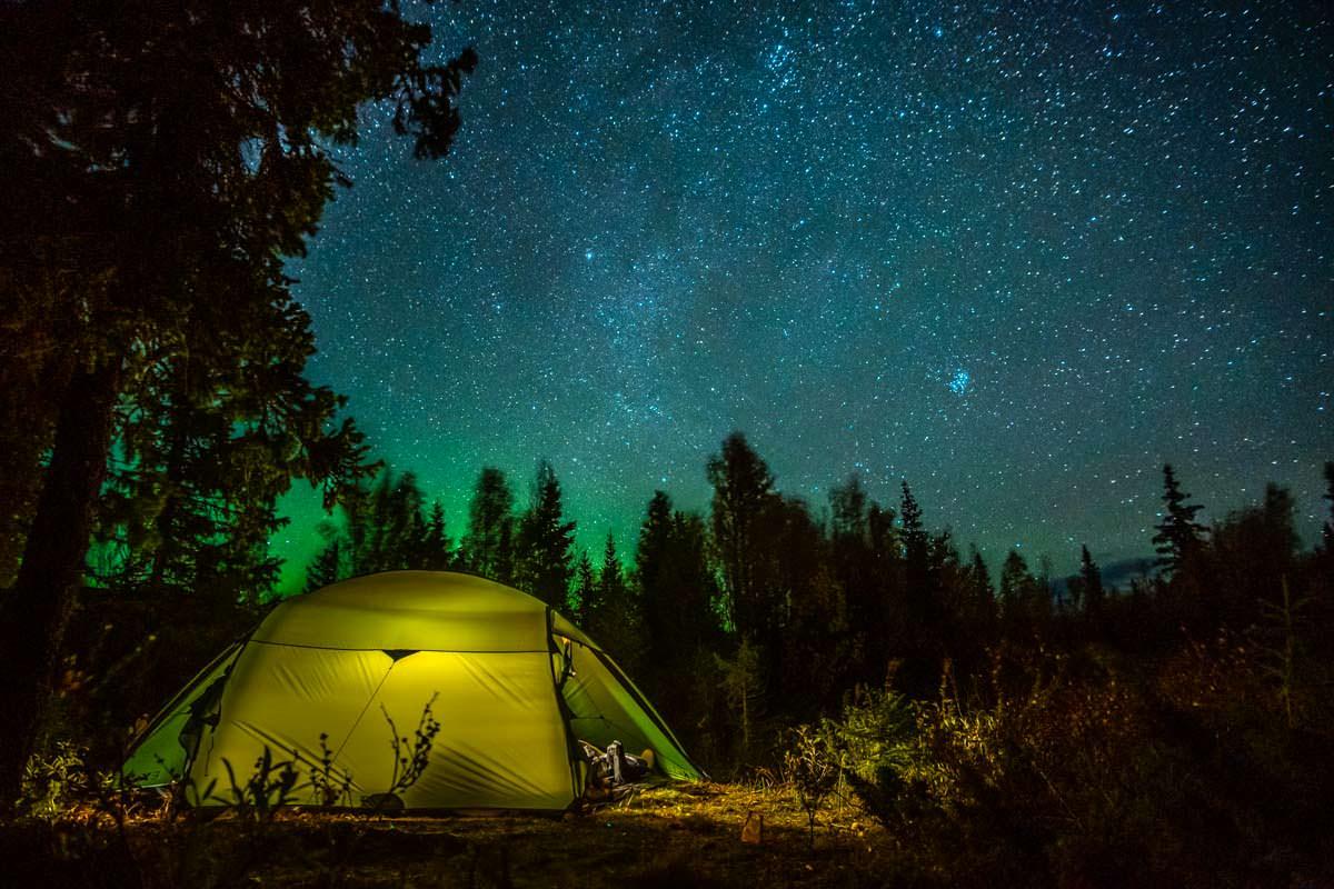Zelten im Sarek Nationalpark