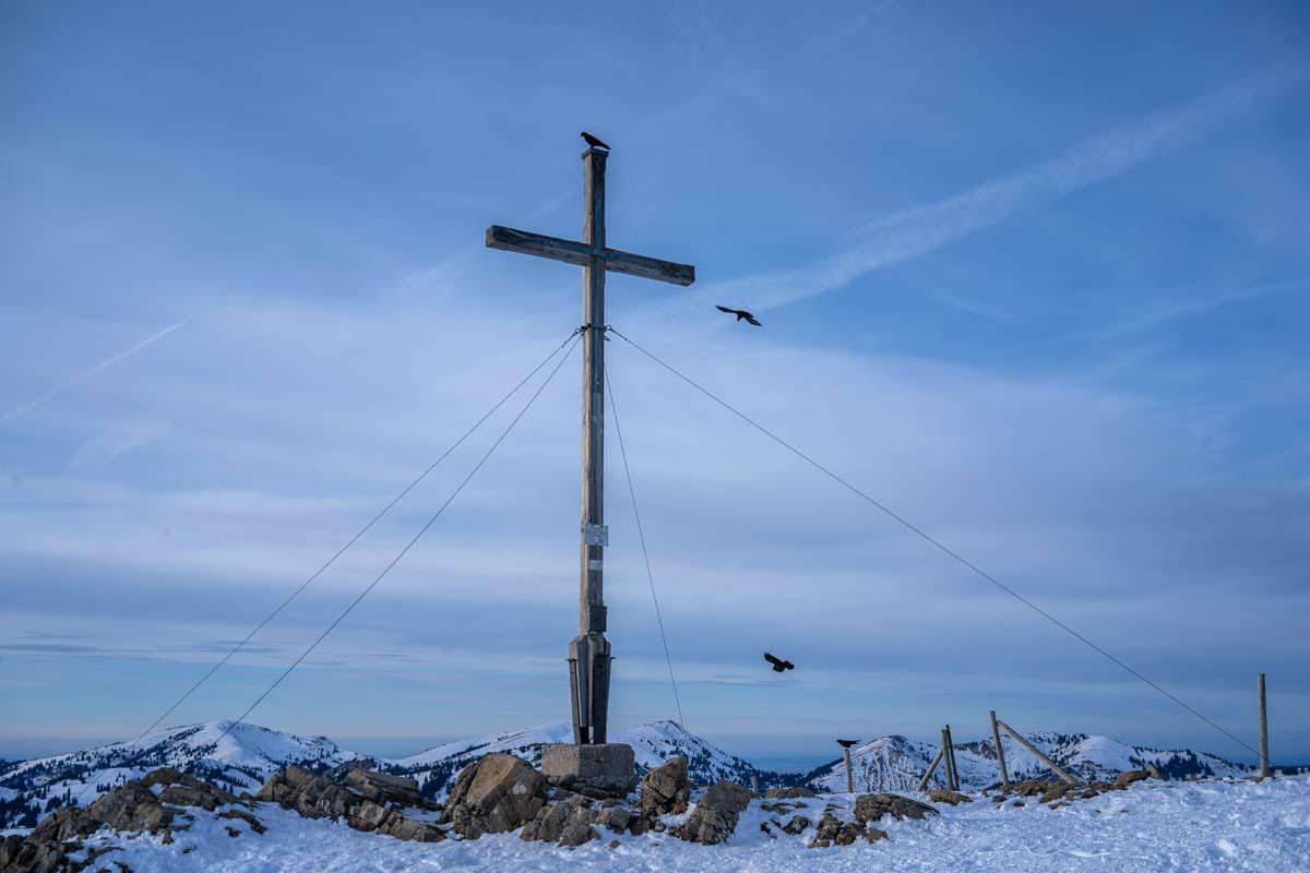 Gipfelkreuz vom Riedberger Horn