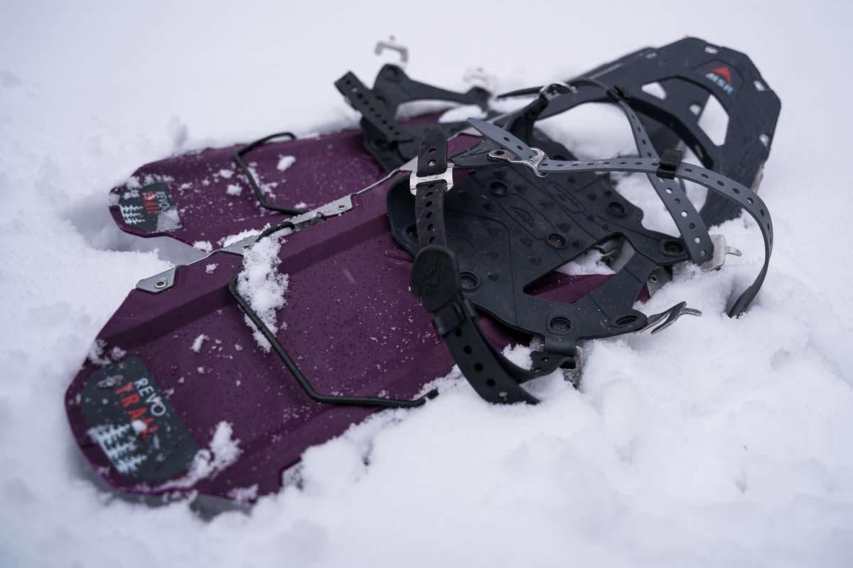 Schneeschuhwandern für Anfänger: Schneeschuhe MSR Revo Trail im Test