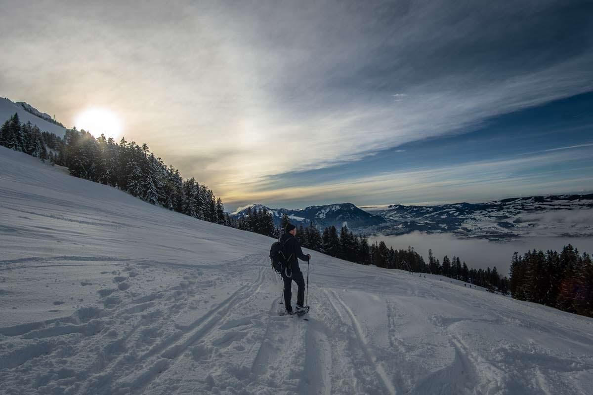 Schneeschuhwandern schenkt ein Gefühl von Freiheit