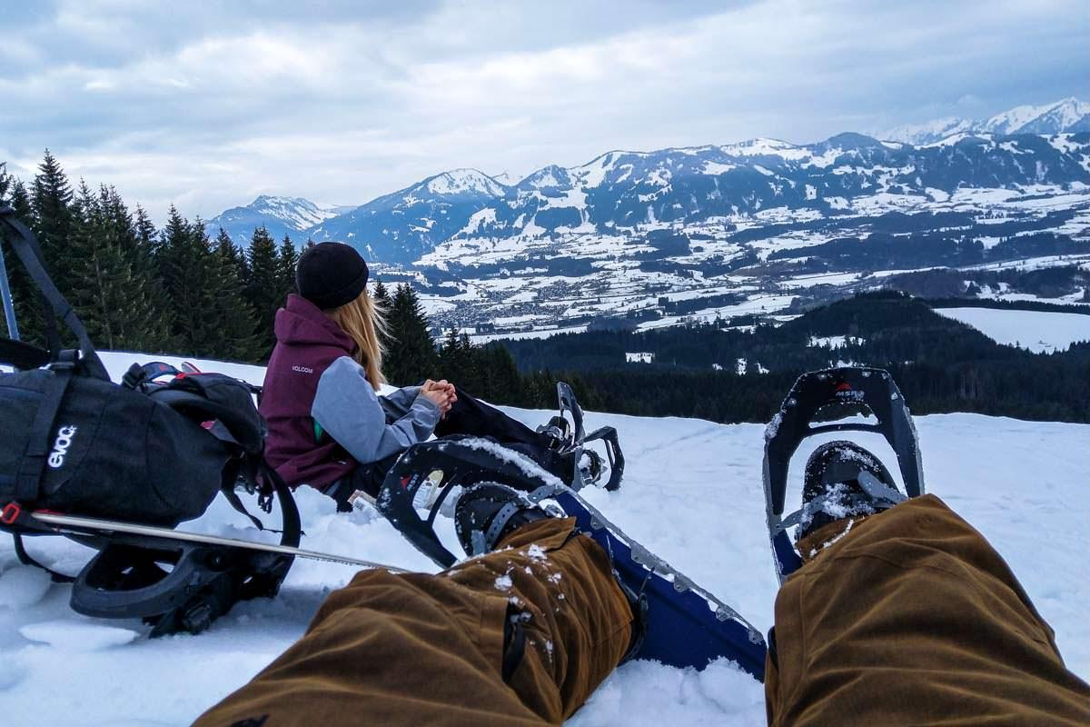 Schneeschuhe MSR Revo Trail im Einsatz