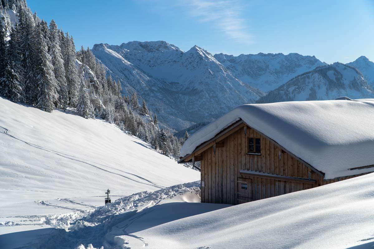 Foto-Locations in Deutschland: Winterlandschaft im Allgäu
