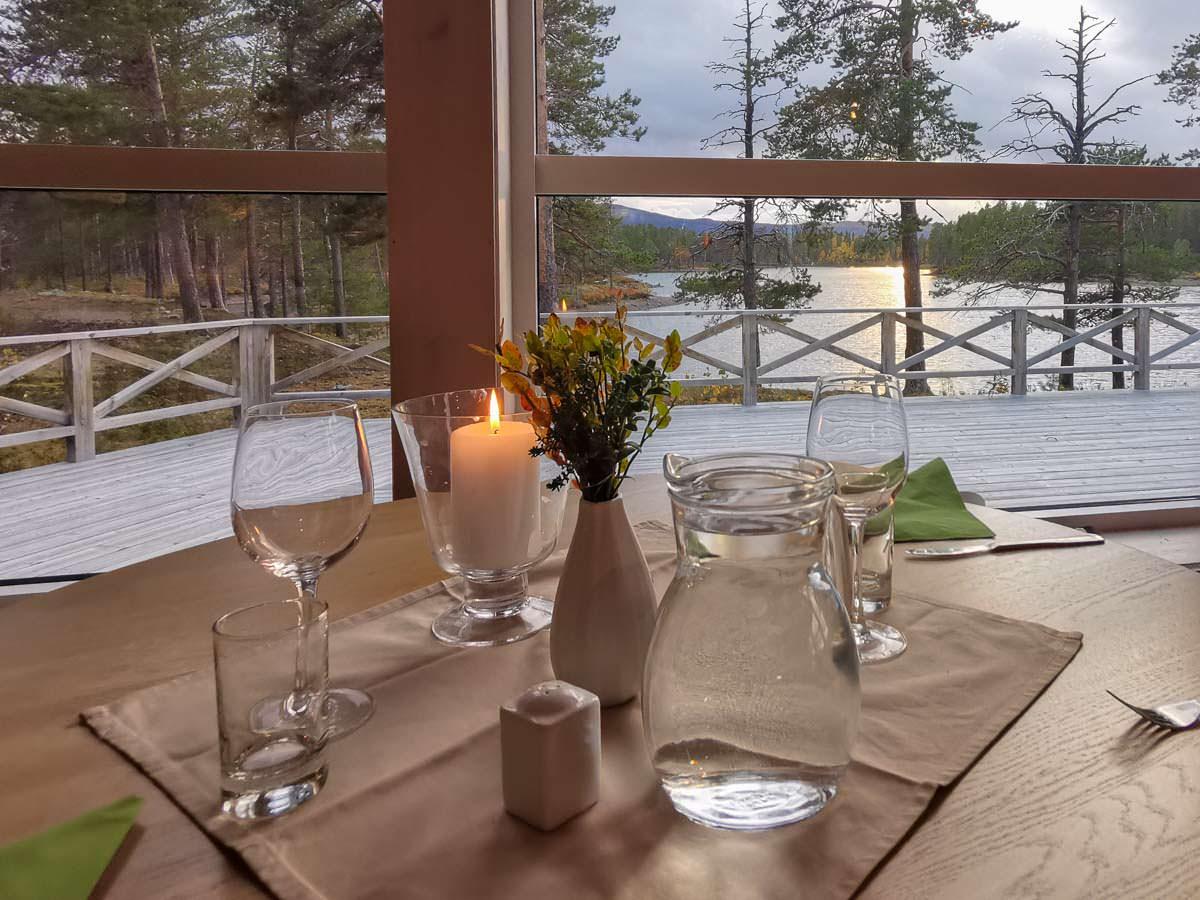Das Restaurant in Årrenjarka in Schwedisch-Lappland