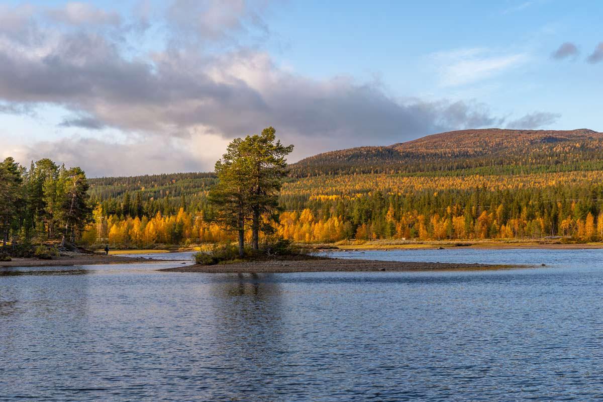 Insel im Saggat bei Årrenjarka