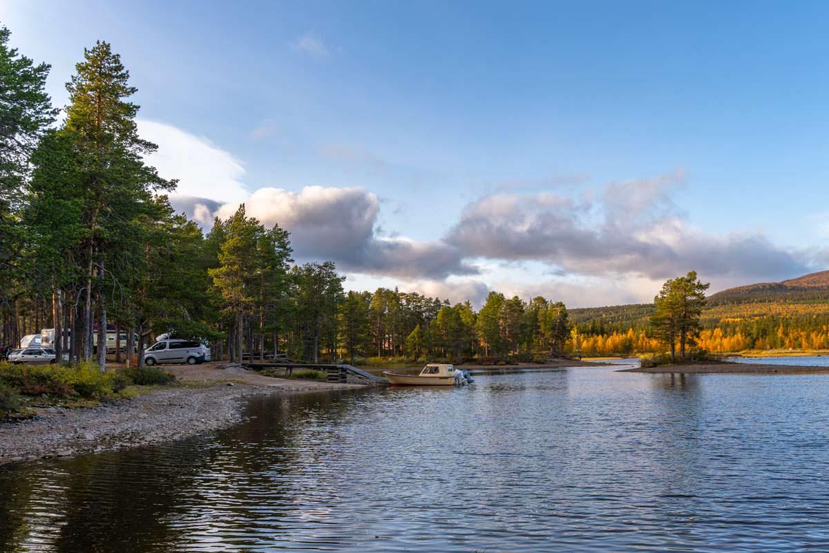 Campingplatz von Årrenjarka