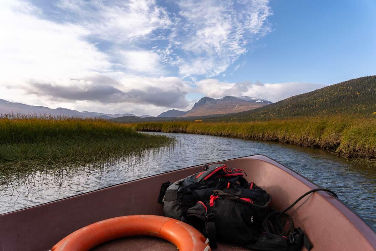 Bootstour auf dem Kvikkjokk-Delta