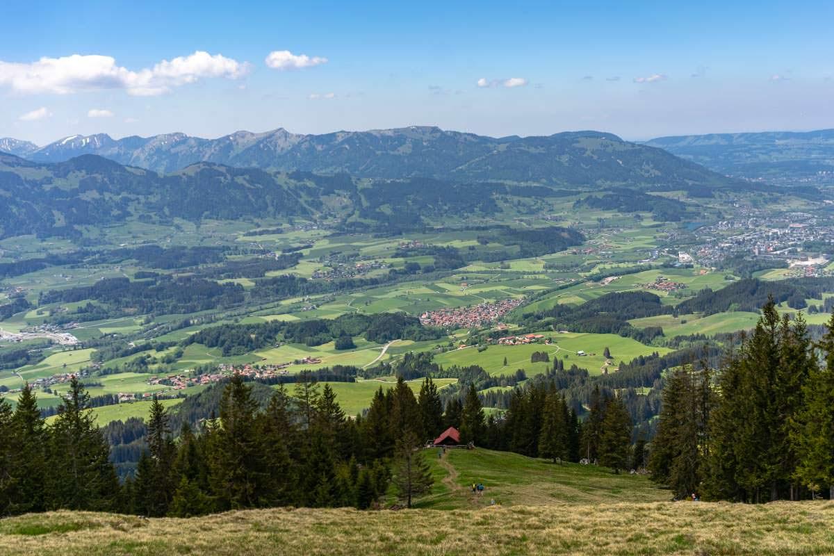 Aufstiegsroute der Skitour auf den Sonnenkopf