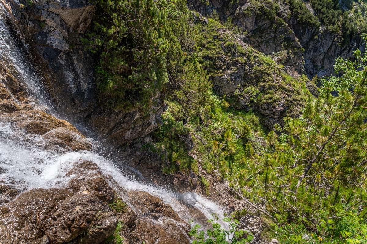 Wasserfall am Unteren Gaisalpsee