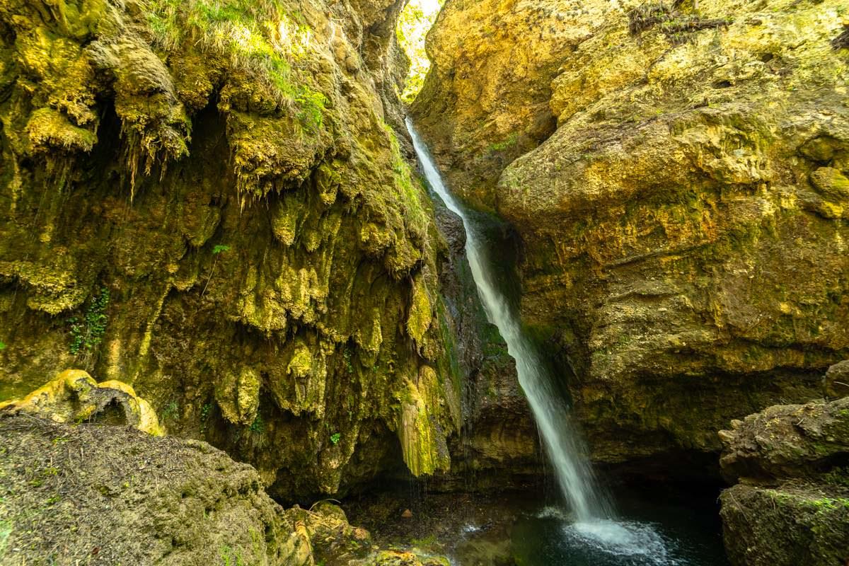 Der Hinanger Wasserfall im Allgäu